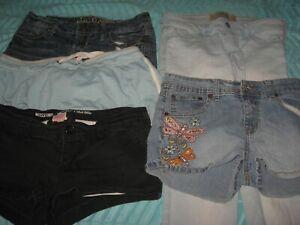 Pantalones Cortos Para Mujer Juniors Lote Skinny Jeans Hollister Mossimo Wallflower Talla 4 5 Ebay