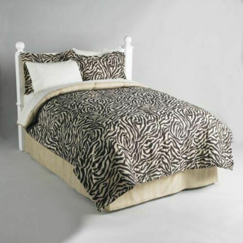 Zebra Wild Animal Drucken Bett In a Bag Comforter Sheet Set König