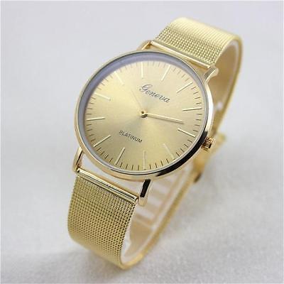 Geneva Fashion Women's Watch Stainless Steel Band Analog Quartz Wrist Watches