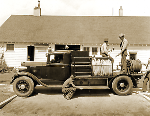 """1931 US Forest Service Fire Truck NH Old Photo 8.5/"""" x 11/"""" Reprint"""