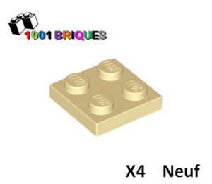 Lego 3022 x4 plaque plate 2x2 beige//tan