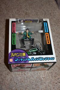 Lupin-The-3rd-Lupin-Green-Figure-And-Bike-134-Near-Mint-Complete-in-Box