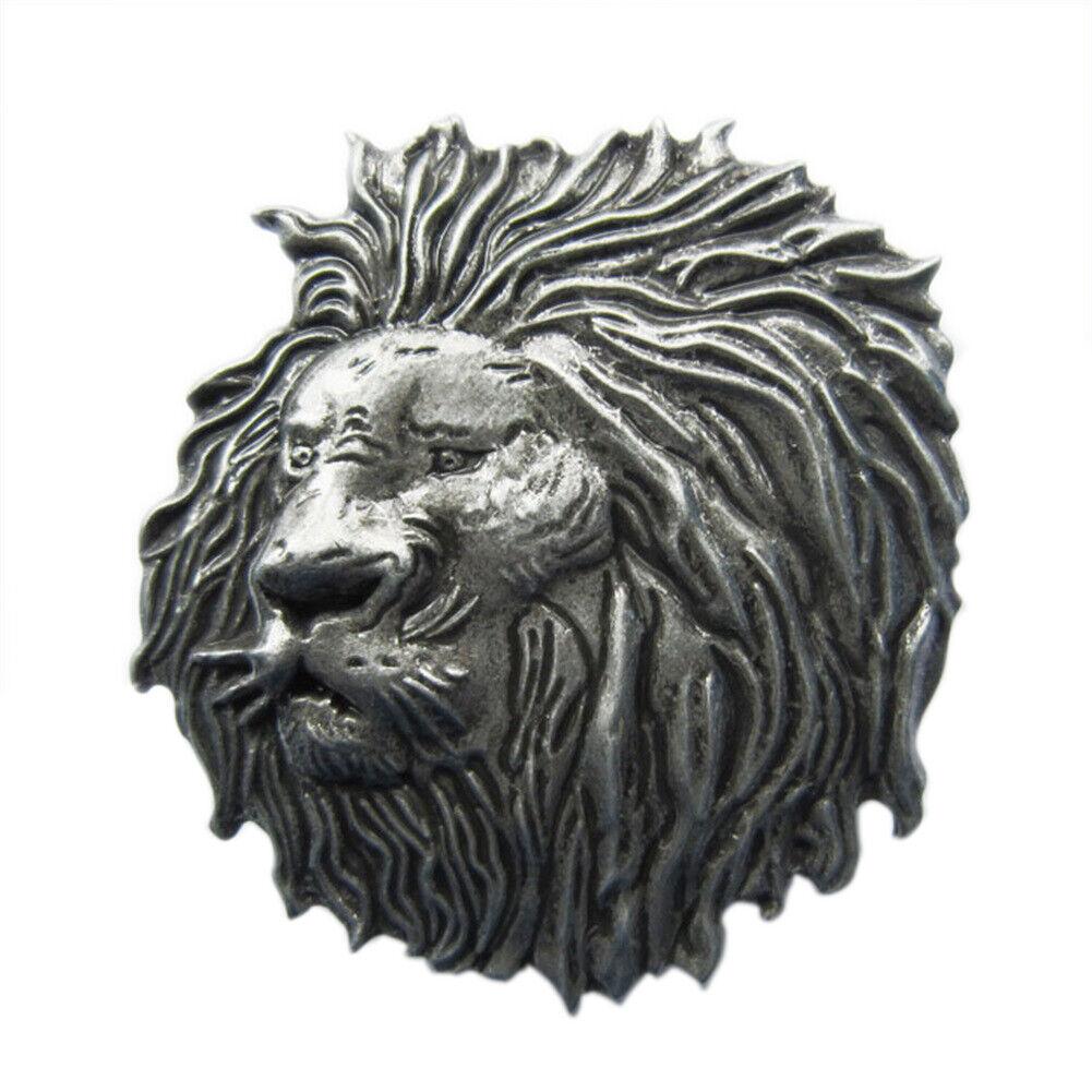 Lion III Metal Belt Buckle Lion Mouth Jungle Zoo-Keeper