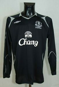 EVERTON-FOOTBALL-SHIRT-LONG-SLEEVE-2004-2005-UMBRO-BLACK-SIZE-XL-GC