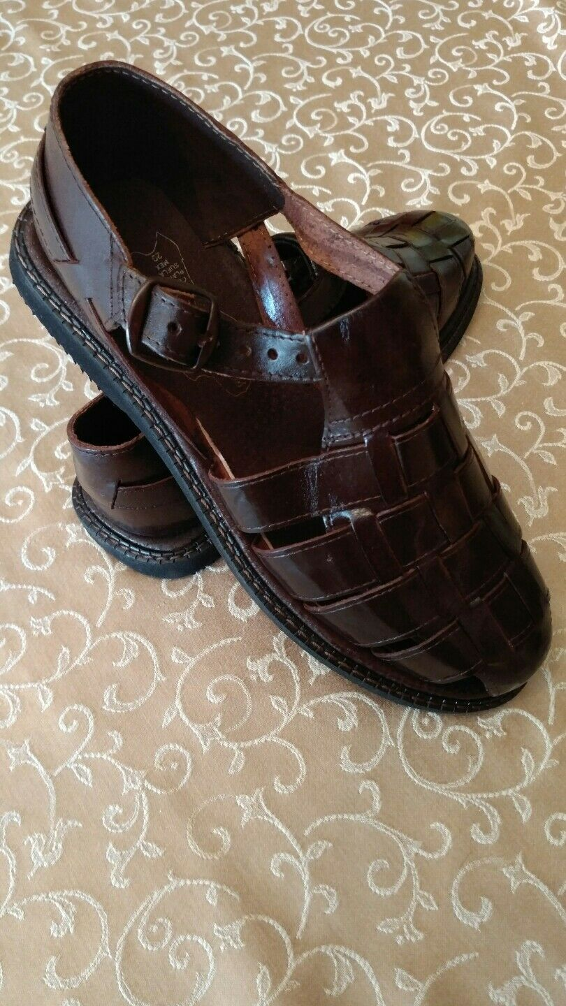 Mens leather sandals size 10