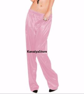 meet 8e2fc 7ec03 Details zu Rosa Satin Unisex Lounge Schlaf Pyjama Hosen Erwachsene Frauen  Sissy Maid