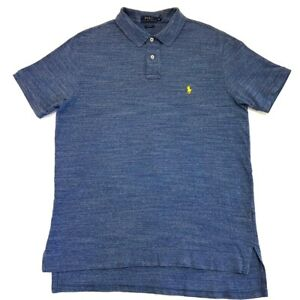 Polo-Ralph-Lauren-Heather-Blue-Short-Sleeve-Collared-Shirt-Size-XL-Mens