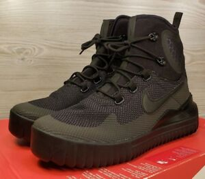 387a26c79164f Details about Nike Air Wild Mid Triple Black Anthracite Hiking Boots  916819-001 Pick Size