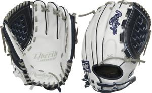 "Rawlings RLA120-3N 12/"" Liberty Advanced 2.0 Blanc//Bleu Softball Glove"