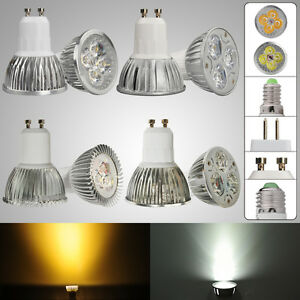 3w 4w 8w 9w gu10 e14 mr16 e27 kaltwei warmwei led lampe strahler leuchte ebay. Black Bedroom Furniture Sets. Home Design Ideas