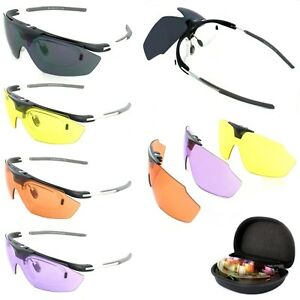Evolution-HAWK-4-Colour-Lens-Shooting-Sports-Sunglasses-Clay-Pigeon-Target