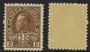 Canada-Scott-MR4-2c-1c-Brown-King-George-V-Admiral-War-Tax-VF-LH