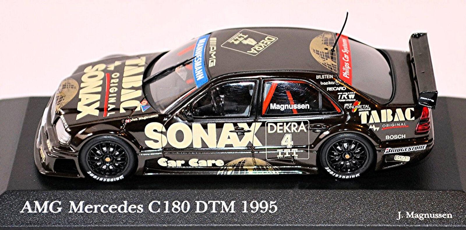 AMG Mercedes C 180 DTM 1995 1995 1995 Magnussen   4 SONAX Tabac Ups 1 43 Minichamps 74944c
