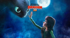 """How to Train Your Dragon 1 2 Wall Movie 21""""x13"""" Poster H12"""