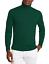 Maglione-Uomo-Collo-Alto-Lana-Slim-Fit-Maglia-Blu-verde-nero-Dolce-Vita miniatura 13