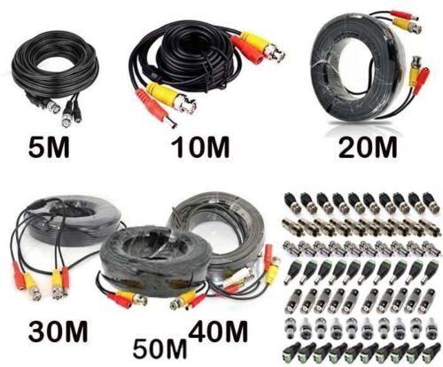 CCTV Vorgefertigt BNC Video und Dc Stromkabel 5m 10m 15m 20m 30m 40 M 50m