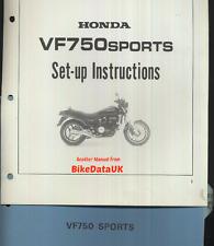 Genuine Honda VF750 Sports (1982) Manual de configuración distribuidores vf 750 S RC07 V45 Sabre