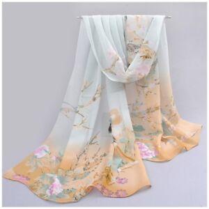 2e5fec7bf4f destockage foulard écharpe neuf mousseline de soie beige vert ...