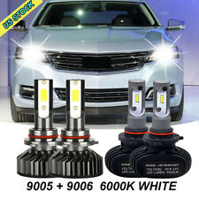 4pc Combo 9005 9006 Cob Led Headlight Kit Bulbs High Low Beam Us Iced Whitek Fits 2002 Mitsubishi Eclipse