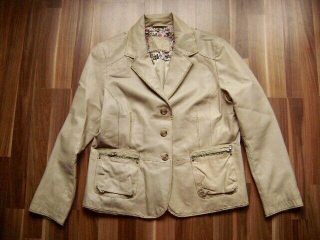 @ JULIA S. ROMA @ Blazer Leather Beige US 18 Gr. 46 I 50 B F 48