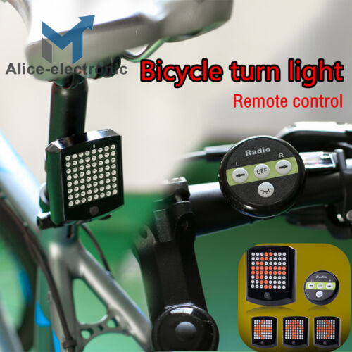 Bicycle LED Tail Light Turn Signal Rear Brake USB Rechargeable Night Safety B2AE