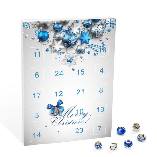 Adventskalender Merry Christmas 24 Duft Teelichter weiß