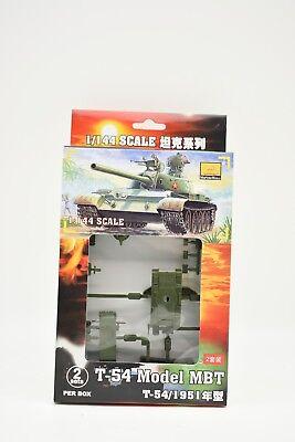 1/scatola 82101 1/144 Scala Modellino Plastica T-54 Modello Mbt 1951 (2 Serbatoi