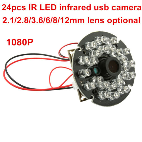 1080p Windows Android Linux Camera Module CMOS IR Night Vision 120fps 2.8mm Lens