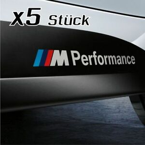 BMW-Performance-Aufkleber-5-Stueck-BMW-M3-M5-auto-sticker-decal-decor-2015