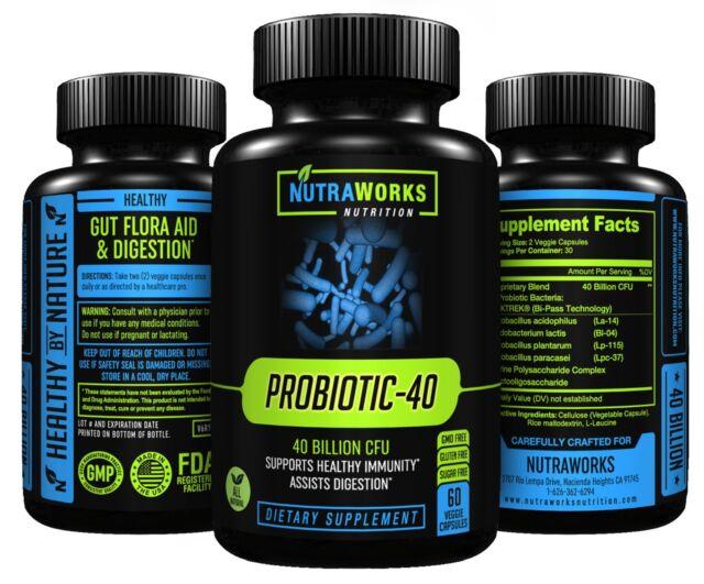PROBIOTIC 40 BILLION CFU - Supplement Boosts Immune System & Digestive Health