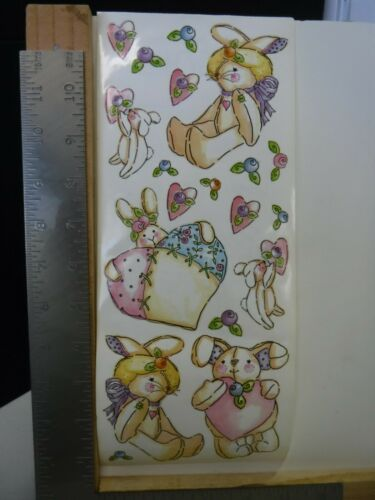 PRINTWORKS BUNNY BLOSSOMS RABBITS HEARTS STICKERS NEW A24863
