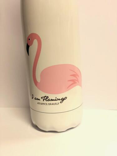 500ml Pink Flamingo Water Bottle Vacuum Insulated Flask Thermoses Cold Hot UK