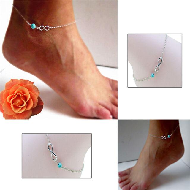 Fashion Bohemian Bead Infinity Charm Chain Anklet Bracelet Barefoot Jewelry 9C