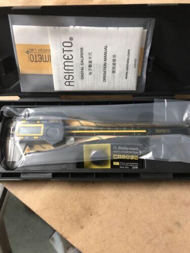 "Asimeto 307-06-5 6/"" Calibrated Electronic Digimatic Caliper With Hard Case"