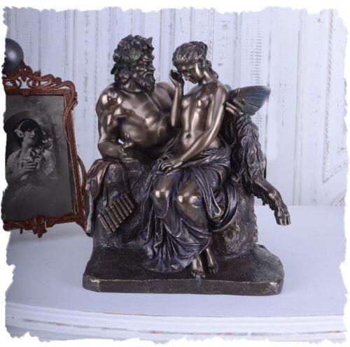 Lovesickness Pan comforts Psyche sculpture group antique style Veronese figure