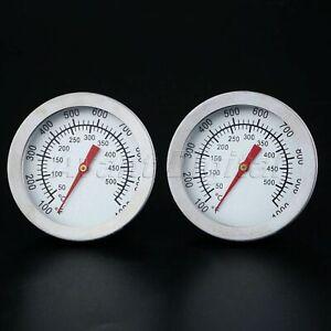 50-500-Acier-Inoxydable-Barbecue-Smoker-Grill-Thermometre-Temperature-Jauge