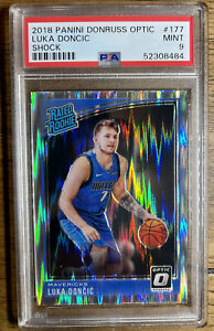 Luka Doncic 2018-19 Optic Shock PSA 9 Mint Rookie Card RC #177 🔥🔥🔥🔥