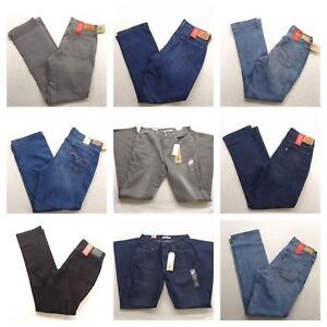 Levis-505-Straight-Leg-Stretch-Womens-Jeans-Denim-All-Sizes-All-colors