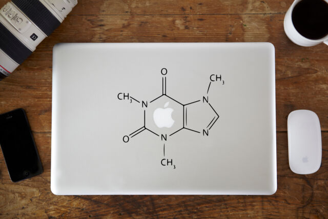 "Caffeine Molecular Structure Decal for Apple MacBook Air/Pro 11"" 12"" 13"" 15"""