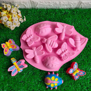 Pink-Lotus-Insects-Cake-Silicone-Handmade-Soap-Kitchen-Mould-Decoration-ONE