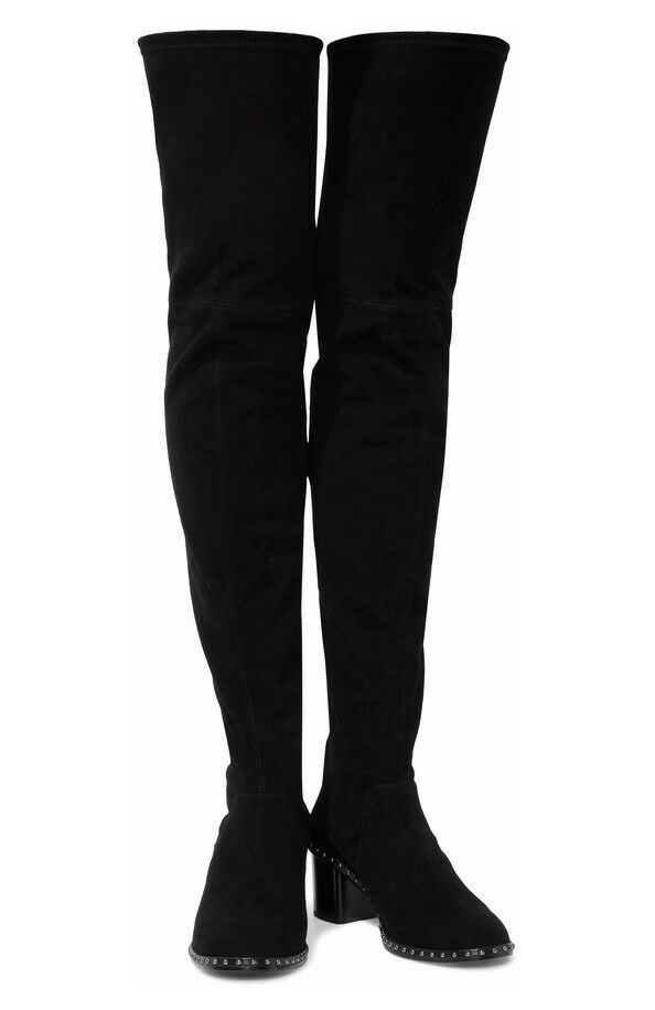 Rag & Bone Black suede Rina Over the Knee Boot size 39.5