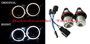 2-LAMPADE-LED-MODIFICA-LUCE-6000K-3W-FARI-ANGEL-EYES-BMW-SERIE-1-E87-S-6-E65-E66