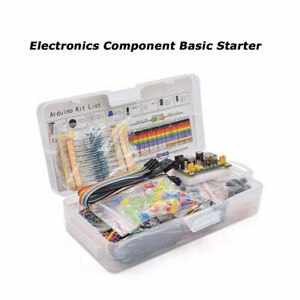 Electronics-Component-Basic-Starter-With-830-tie-points-Breadboard-Power-Sup-LD