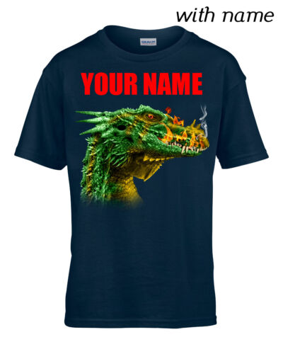 YOUR NAME DRAGON HEAD Children // Kids Quality T-Shirt DTG Personalized