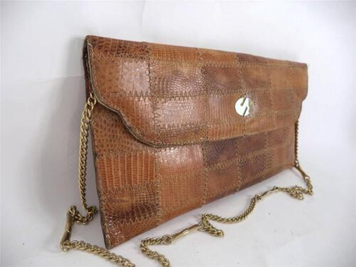 ᄄᄂ marron bandouliᄄᄄre cha pour sac Sangle en de vintage peau serpent ne en vintage 3l5TFK1cuJ