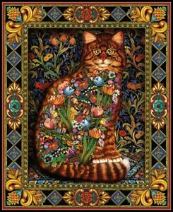 Tapestry-Cat-Chart-Counted-Cross-Stitch-Patterns-Needlework-DIY-DMC