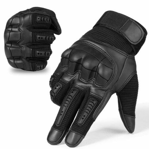 Gloves Full Finger Touch Screen Tactical Rubber Hard Knuckle Army Glove
