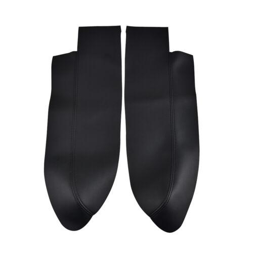 For Honda CR-V CRV 07-11 Black Microfiber Leather Front Door Panel Armrest Cover