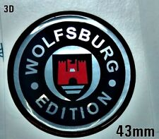Wolfsburg edition 3D sticker logo 27mm Chrome
