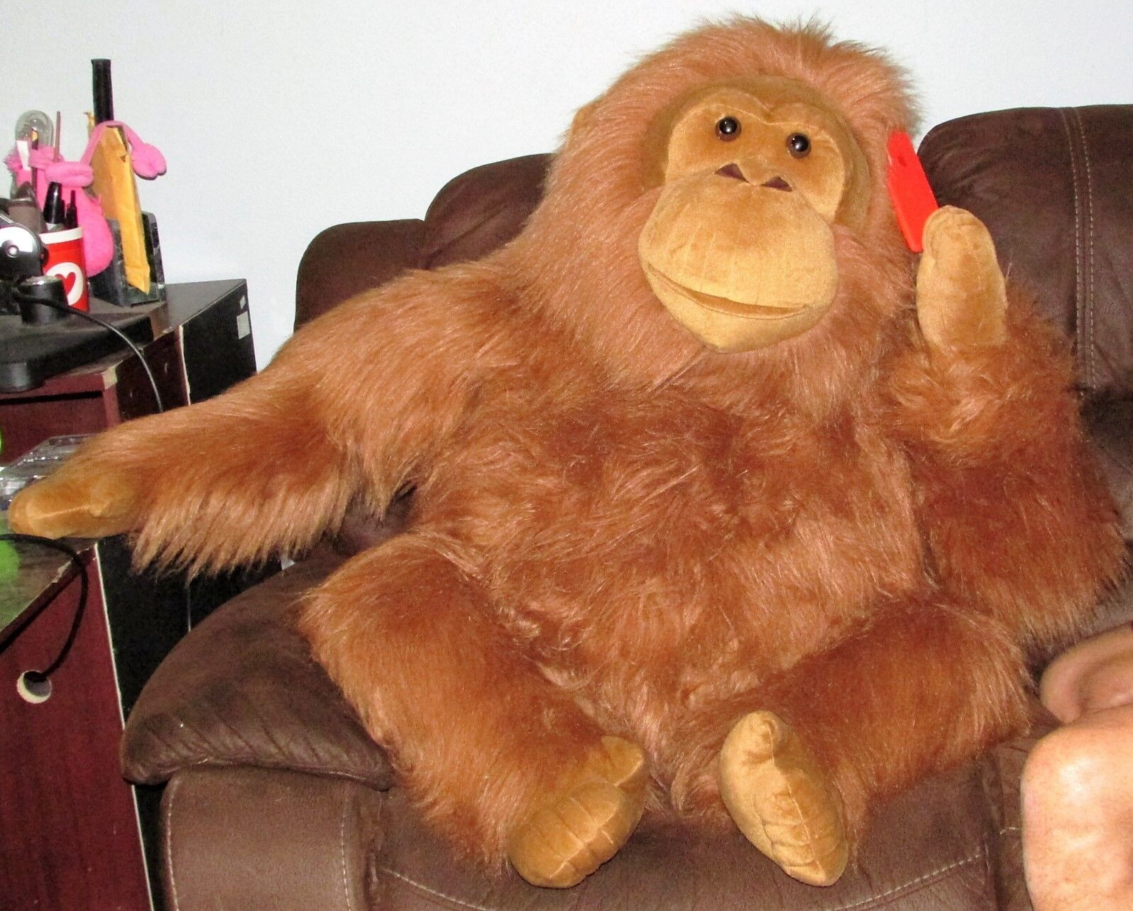 45  Aurora ORANGUTAN JUMBO Monkey Plush Gorilla Ape Stuffed Animal Over 3 Feet